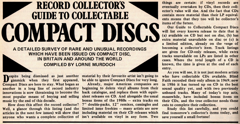 Collectable CDs